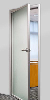 Двери в алюминиевой раме
